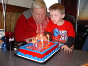 Will and Grandpa 2009 5 years old