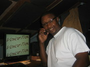 In the studio/booth