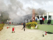 generator house of Christ Embassy Church Billings Way, Ikeja, gutted by fire in Lagos.