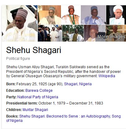 Shagari is ALIVE & WELL