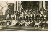 Song festival, women in folk costume of Western Estonia