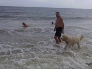 And I got to play in the ocean with Daddy