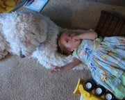 Abigail and her puppy