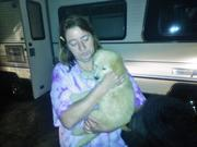 mom and new puppy