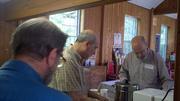 Gathering around the coffee
