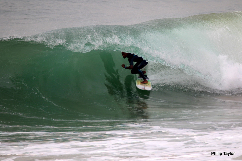 Unidentified surfer at New Pier