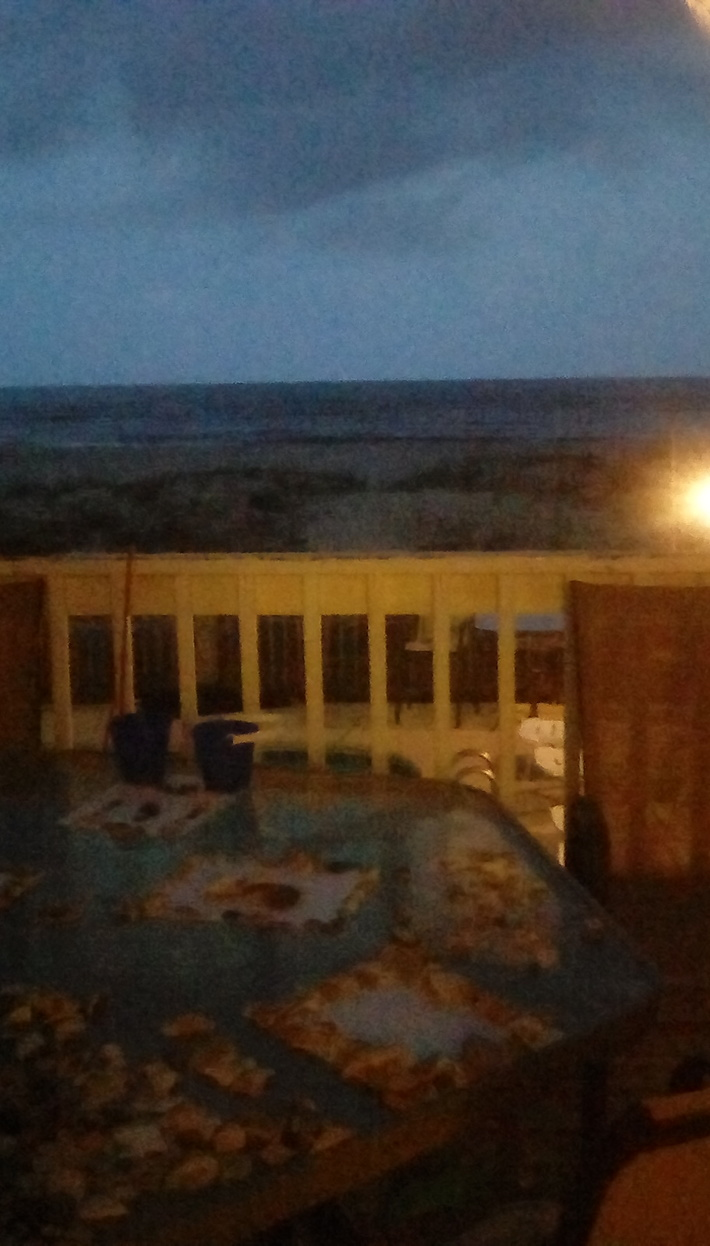 Gulf shores at night