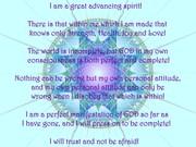 Advancing Spirit