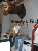 Me and my best friend working at the superficial Abercrombie... Damn i hate it here!!! Everyone so fake >:P