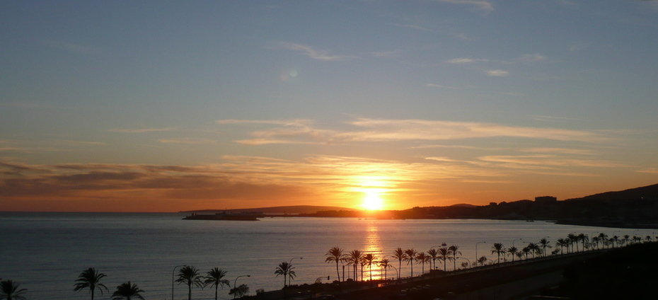 Sunset at Palma de Mallorca's Bay