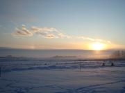 Misty Sunset w Sundog