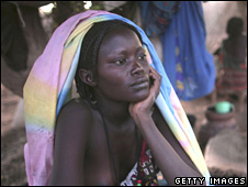 Beautiful soul alone amongst Sudan's 2 million black refugees