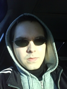 Me in a car looking so serious!