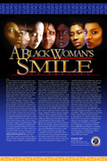 "A Black Woman's Smile (11""x17"" Poster)"