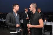 Josh Hartnett and designer Kris Van Assche