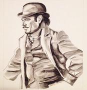 Watercolour of Ethan from Penny Dreadful. Josh Harnett is amazing in this role. #PennyDreadful @RealjoshHarnett