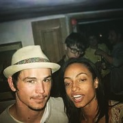 My unflattering candid face with Josh Hartnett's