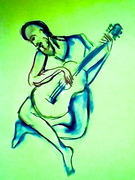 """Spring and the """"Old Guitarist"""" after Picasso"""