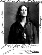 """To all my friends at Manny's People Have the Power"" PATTI SMITH"