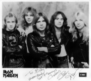 "IRON MAIDEN ""To Billy and Everybody At Manny's Cheers!"""