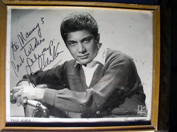 Paul Anka from Manny's Wall of Fame