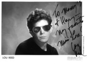 """To Manny and Henry my favorite music store!"" Lou Reed"