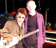 VZ & Joe Jackson at a session for Vinnie's album Swinging Guitar Sounds of Young America