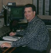 at the mic, WMNI-AM, Columbus, OH  2006