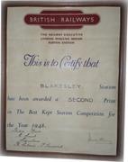 Blakesley Award Certificate