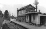 Fenny Compton from SMJ train pre 1960 signal box