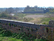 Towcester station site from Tiffield Road Bridge