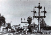 Towcester Station and 'Lucas' bridge