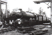 Now preserved GER B12 at Towcester Station on MGNRS Railtour 1963