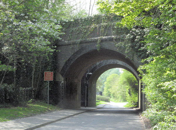Twin bridges that carried the GCR over Station Road, Woodford Halse