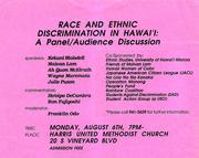 Race&DiscriminationPanel
