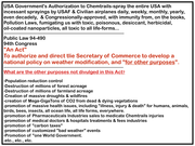 "Congress unanimously Passed the ""CHEMTRAILS"" Law in 1976 for  Spraying Toxics all Across America to Experiment on Climate Change Control and Other Purposes, Which Have Never Been Defined nor Announced"