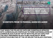 CARBON-BLACK FILM-COATED POLAR ICE CAP VIA CHEM-TRAILS SPRAYINGS VIA AIR-FORCE AND OTHER AIRPLANES VIA DEEP-STATE.
