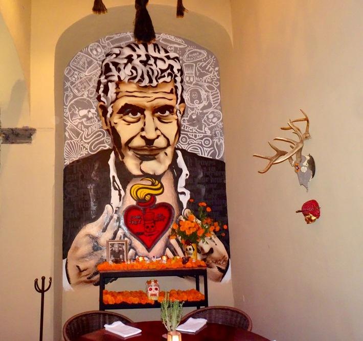 Altar to Anthony Bourdain