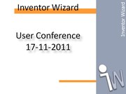 Inventor Wizard User Conference 2011