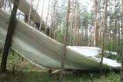 Lightning destroys turbine