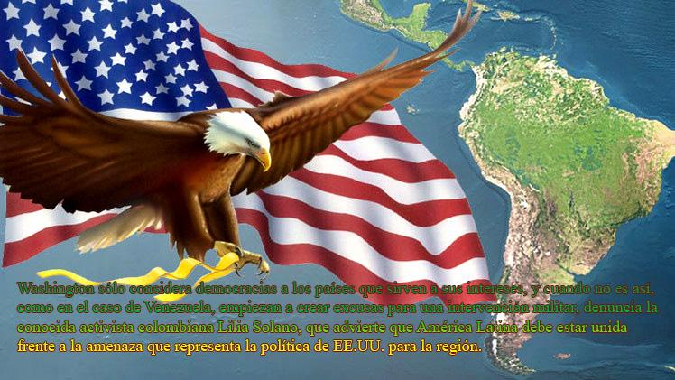 """Hermes Ecuador  """"EE.UU. tradicionalmente ha visto a Latinoamérica como ellos lo llaman, su 'patio trasero'"""", basando su política hacia la región en un enfoque y una estrategia militar, declaró la acti"""