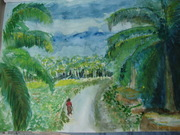 Kerala landscape at Monsson