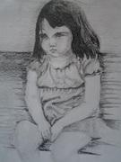 sad lil girl