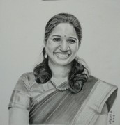 Commissioned portrait. Staedler 8B pencil and charcoal pencil.