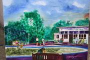 The Park Oil On Canvas