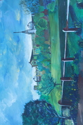 Alexandra Palace, Oil on linen Canvas