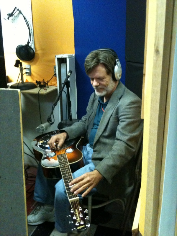 Playing Dobro on a session.