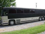 The Wild West Band tour Bus