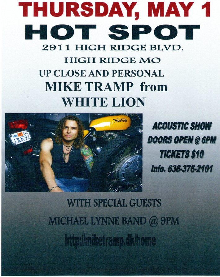 Mike Tramp from White lion and Michael Lynne Live in.Louis