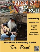 Pickin On The Porch Flyer